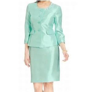 Le Suit Hamptons Mint Green Skirt & Blazer  set
